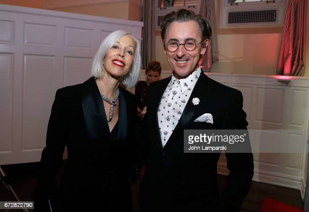 Linda Fargo and Alan Cumming attend the 39th annual AAFA American Image Awards at 583 Park Avenue on April 24 2017 in New York City