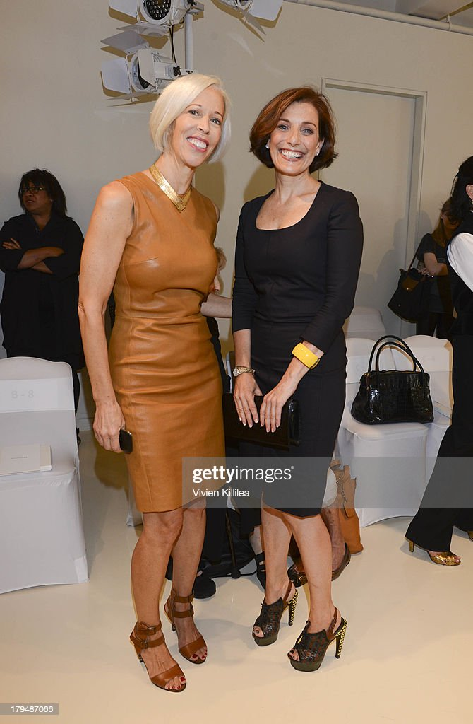 Linda Fargo and CEO & Founder, Lividini & Co Jaqui Lividini attend the Josie Natori show during Mercedes-Benz Fashion Week Spring 2014 on September 4, 2013 in New York City.