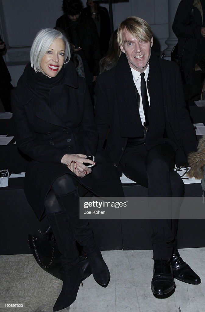 <a gi-track='captionPersonalityLinkClicked' href=/galleries/search?phrase=Linda+Fargo&family=editorial&specificpeople=592060 ng-click='$event.stopPropagation()'>Linda Fargo</a> (L) and Ken Downing attend the Kimberly Ovitz show during Fall 2013 Mercedes-Benz Fashion Week at Cafe Rouge on February 7, 2013 in New York City.