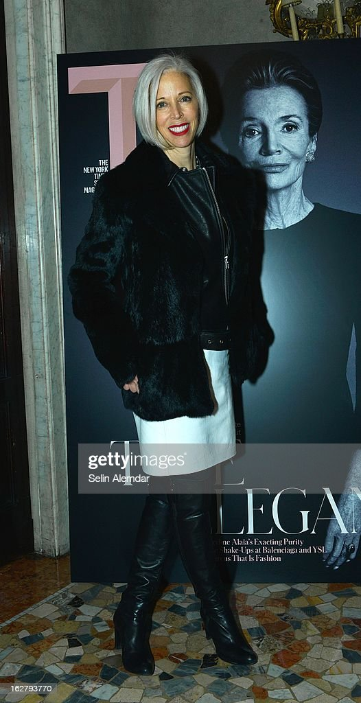 Linda Fargo attends Deborah Needleman's New York Times inaugural issue party during Milan Fashion Week Womenswear Fall/Winter 2013/14 on February 23, 2013 in Milan, Italy.