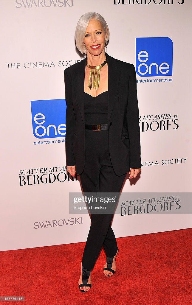 Linda Fargo attends the Cinema Society with Swarovski & Grey Goose premiere of eOne Entertainment's 'Scatter My Ashes at Bergdorf's' at Florence Gould Hall on April 29, 2013 in New York City.