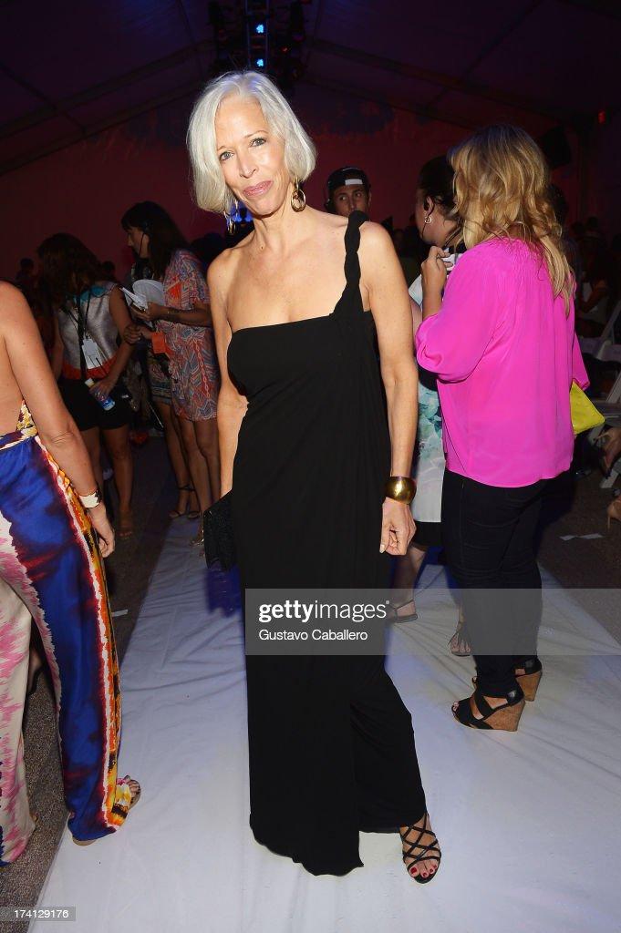 Linda Fargo attends the Mara Hoffman Swim show during Mercedes-Benz Fashion Week Swim 2014 at Cabana Grande at the Raleigh on July 20, 2013 in Miami, Florida.