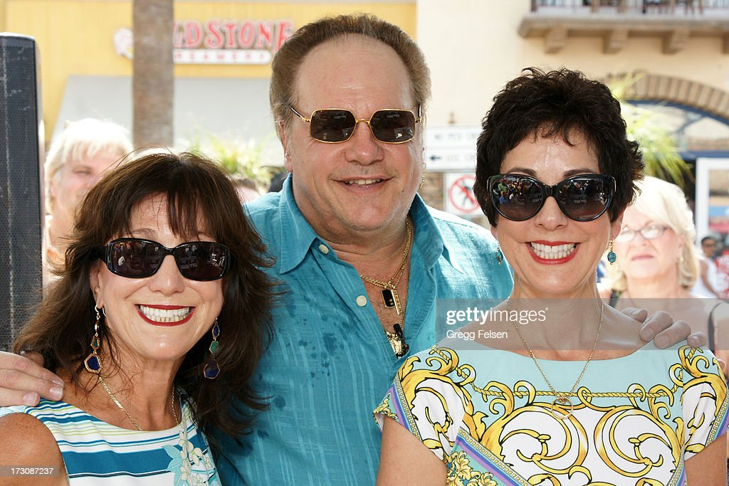 Linda Fineo, Harry Wayne 'KC' Casey and Victoria Phillips attend Palm Springs 'Walk of Stars' ceremony for KC And The Sunshine Band on July 6, 2013 in Palm Springs, California.