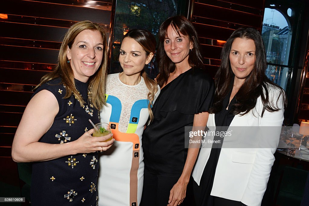 Linda Fulford, Maria Hatzistefanis, Ann Caruso and Alison Loehnis attend a private dinner hosted by Rodial founder Maria Hatzistefanis & Bay Garnett at Casa Cruz on May 5, 2016 in London, England.