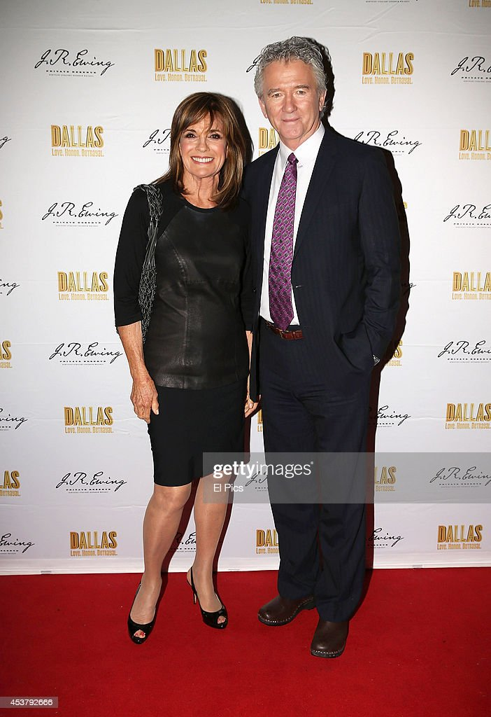 Linda Gray and Patrick Duffy attend the J.R. Ewing Bourbon's Launch Party on August 18, 2014 in Sydney, Australia.