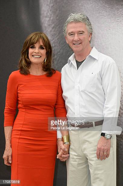 Linda Gray and Patrick Duffy pose at a photocall during the 53rd Monte Carlo TV Festival on June 12 2013 in MonteCarlo Monaco