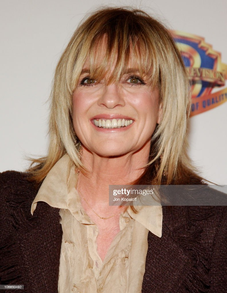 Linda Gray during Warner Bros. Television and Warner Home Video Celebrate 50 Years Of Quality TV - Arrivals at Warner Bros. Studios in Burbank, California, United States.