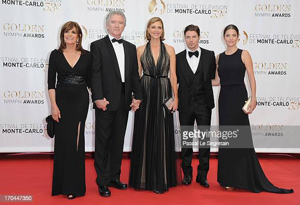 Linda Gray Patrick Duffy Brenda Strong Josh Henderson and Julie Gonzalo attend the closing ceremony of the 53rd Monte Carlo TV Festival on June 13...