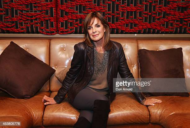 Linda Gray poses at the launch of 'Dallas' on Foxtel's SoHo at The Loft on August 19 2014 in Sydney Australia