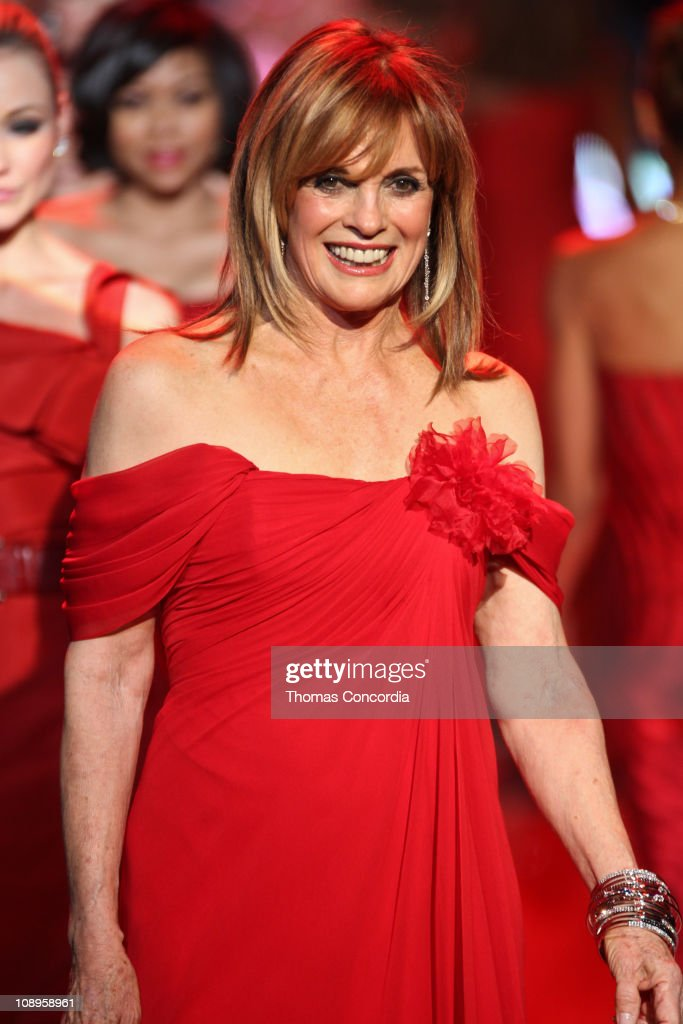 Linda Gray wearing Pamella Roland at the The Heart Truth's Red Dress Collection fashion show during Mercedes-Benz Fashion Week Fall 2011 at Lincoln Center on February 9, 2011 in New York City.