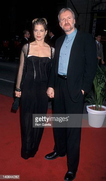 Linda Hamilton and James Cameron at the Premiere of 'Titanic' Mann Chinese Theater Hollywood