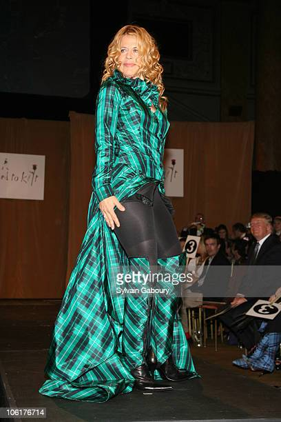 Linda Hamilton during Johnnie Walker Dressed to Kilt 2007 Arrivals and Fashion Show at Capitale at 130 Bowery in New York City New York United States