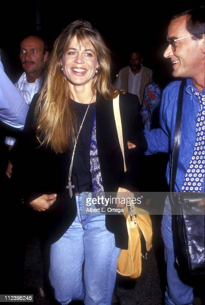 Linda Hamilton during Linda Hamilton at the Play 'Love Letters' at Streets of Beverly Hills in Beverly Hills CA United States