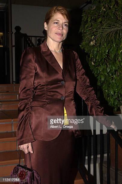 Linda Hamilton during Screening of Hallmark Entertainment's 'Silent Night' at Paramount Studios Theater in Los Angeles California United States