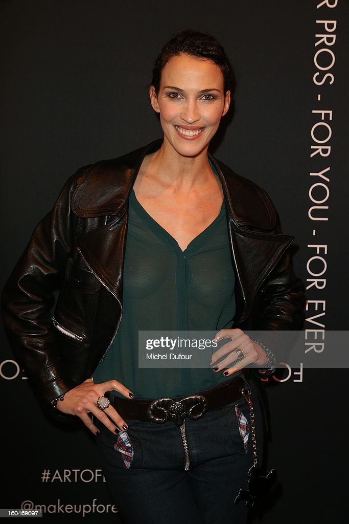 Linda Hardy attends the Make Up For Ever Party at Palais De Tokyo on January 31, 2013 in Paris, France.