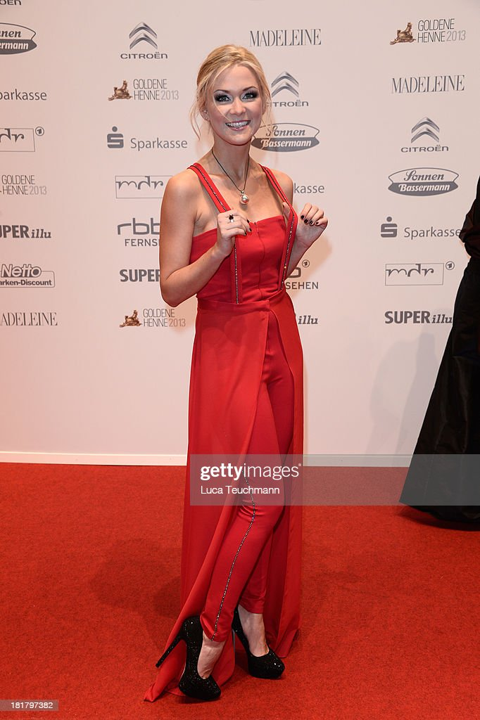 Linda Hesse attends the Goldene Henne 2013 at Stage Theater on September 25, 2013 in Berlin, Germany.