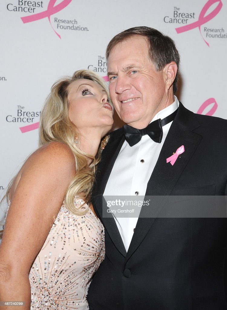 Linda Holliday (L) and NFL coach <a gi-track='captionPersonalityLinkClicked' href=/galleries/search?phrase=Bill+Belichick&family=editorial&specificpeople=201822 ng-click='$event.stopPropagation()'>Bill Belichick</a> attend The Breast Cancer Research Foundation 204 Hot Pink Party at The Waldorf=Astoria on April 28, 2014 in New York City.