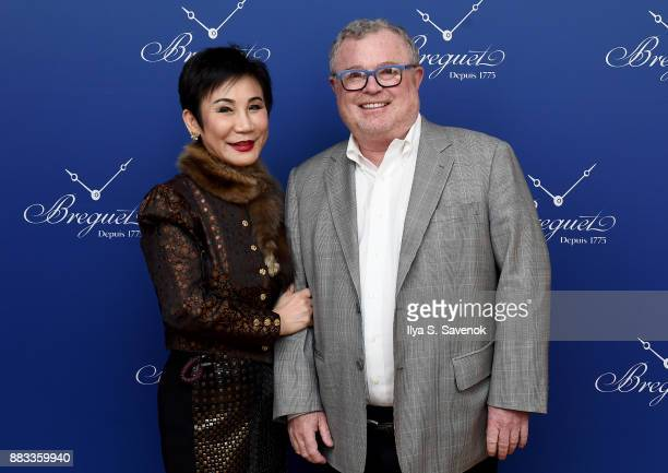 Linda Hong de Clef and guest attend the debut of Breguet's new boutique on Fifth Avenue on November 30 2017 in New York City