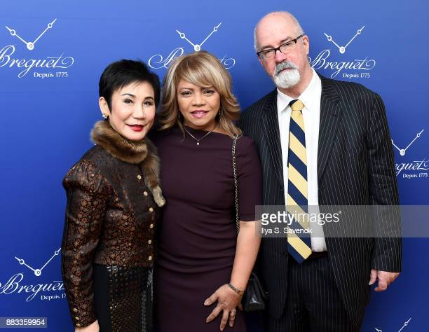 Linda Hong de Clef and guests attend the debut of Breguet's new boutique on Fifth Avenue on November 30 2017 in New York City