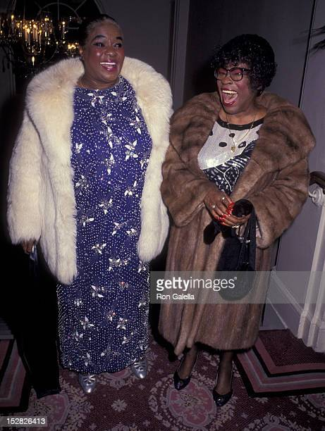 Linda Hopkins and Lavern Baker attend Drama League of New York Gala Honoring KanderEbb on February 4 1991 at the Pierre Hotel in New York City