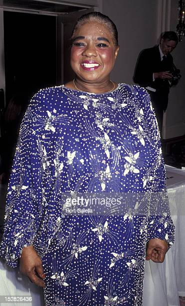 Linda Hopkins attends Drama League of New York Gala Honoring KanderEbb on February 4 1991 at the Pierre Hotel in New York City