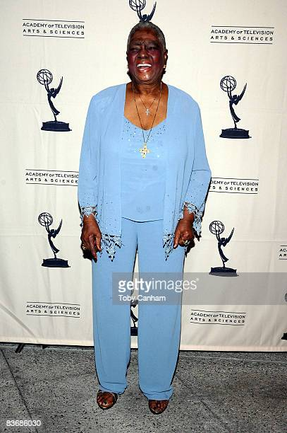 Linda Hopkins poses for a picture at the premiere of 'Mitzi Gaynor Razzle Dazzle The Special Years' at the Leonard H Goldenson Theatre November 13...