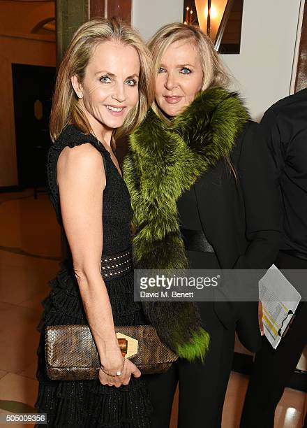 Linda Johnson and Amanda Wakeley attend The Lady Garden Gala hosted by Chopard in aid of Silent No More Gynaecological Cancer Fund and Cancer...
