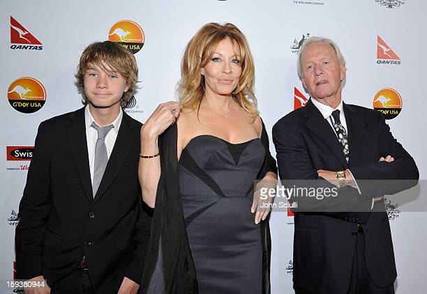 Linda Kozlowski and actor Paul Hogan arrive at the 2013 G'Day USA Los Angeles Black Tie Gala at JW Marriott Los Angeles at LA LIVE on January 12 2013...