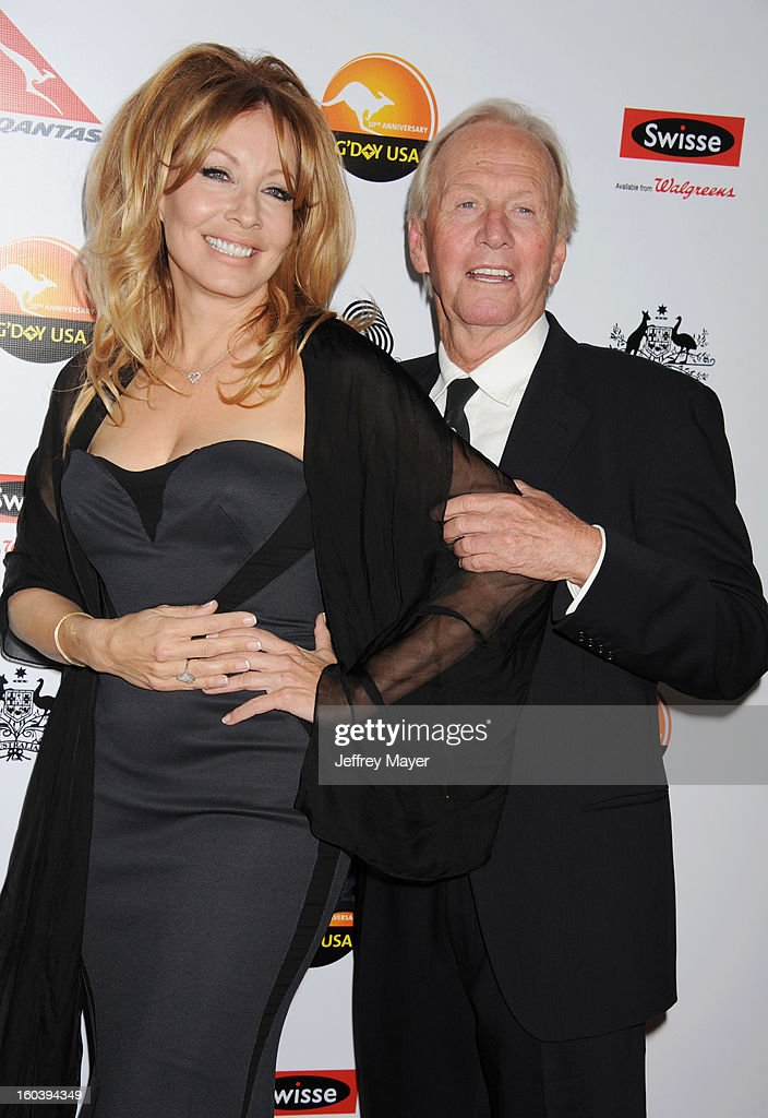 Linda Kozlowski and Paul Hogan attend the 2013 G'Day USA Black Tie Gala at JW Marriott Los Angeles at L.A. LIVE on January 12, 2013 in Los Angeles, California.