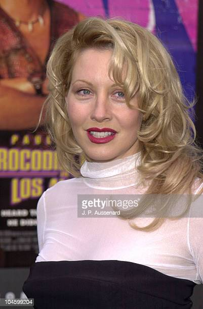 Linda Kozlowski during 'Crocodile Dundee in Los Angeles' Los Angeles Premiere at Paramount Studios in Los Angeles California United States