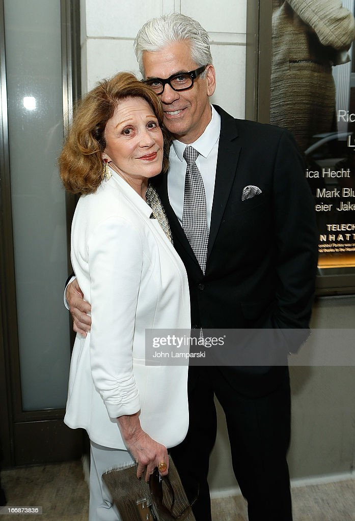 <a gi-track='captionPersonalityLinkClicked' href=/galleries/search?phrase=Linda+Lavin&family=editorial&specificpeople=645189 ng-click='$event.stopPropagation()'>Linda Lavin</a> and Steve Bakunas attend 'The Assembled Parties' Broadway Opening Night at the Samuel J. Friedman Theatre on April 17, 2013 in New York City.