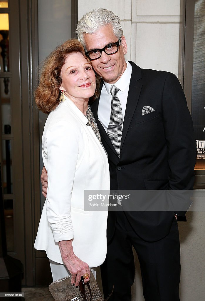 Linda Lavin (L) and Steve Bakunas attend the 'The Assembled Parties' opening night at Samuel J. Friedman Theatre on April 17, 2013 in New York City.