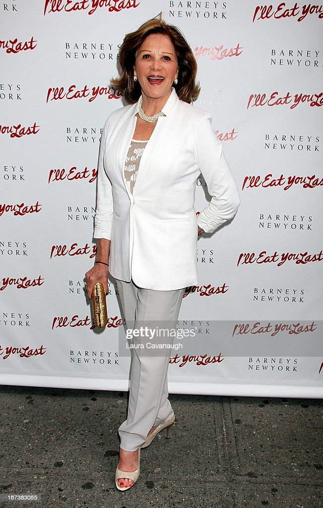 Linda Lavin attends the 'I'll Eat You Last: A Chat With Sue Mengers' Broadway opening night on April 24, 2013 in New York City.