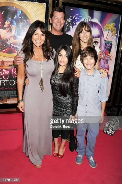 Linda Lusardi and family attend the European Premiere of 'Katy Perry Part Of Me 3D' at Empire Leicester Square on July 3 2012 in London England
