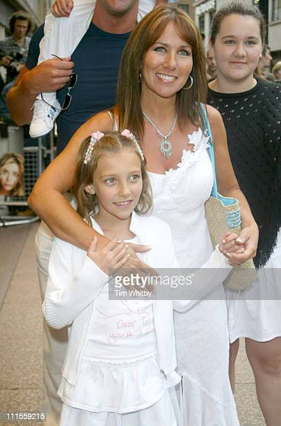 Linda Lusardi and family during 'New York Minute' London Premiere Arrivals at Odeon West End in London Great Britain