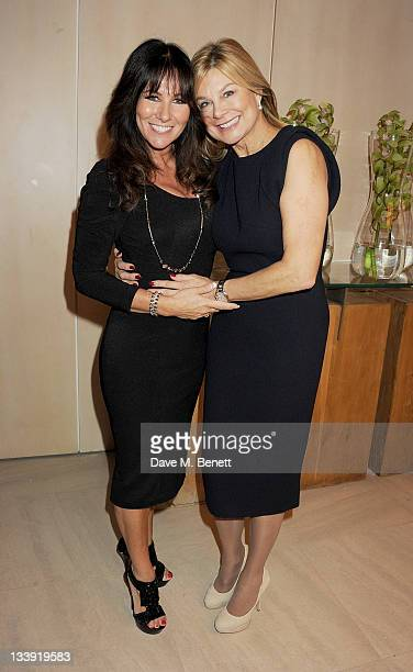 Linda Lusardi and Jilly Johnson attend A Ladies Thanksgiving Lunch Fashion Show Extravaganza hosted by Peter Andre and Jilly Johnson in aid of The...