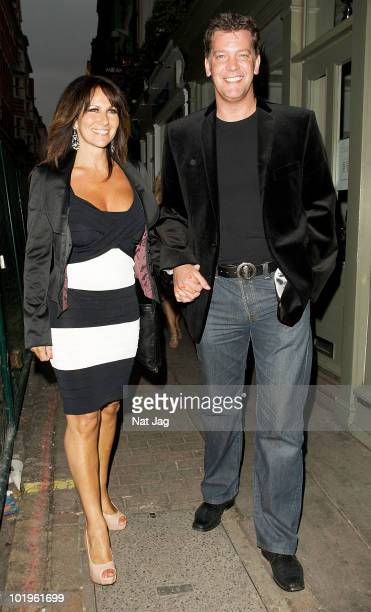 Linda Lusardi and Sam Kane are seen in Soho on June 10 2010 in London England