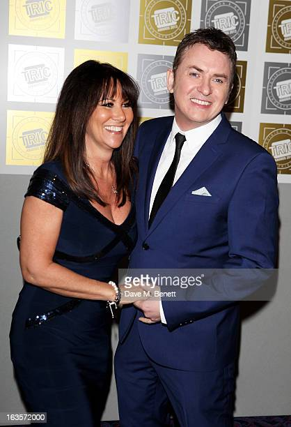 Linda Lusardi and Shane Ritchie arrive at the TRIC Television and Radio Industries Club Awards at The Grosvenor House Hotel on March 12 2013 in...