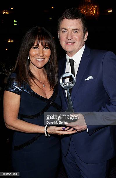 Linda Lusardi and Shane Ritchie winner of Soap Personaltiy award pose at the TRIC Television and Radio Industries Club Awards at The Grosvenor House...
