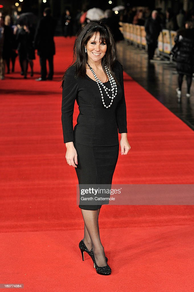 Linda Lusardi attends the UK Premiere of 'Run For Your Wife' at Odeon Leicester Square on February 5 2013 in London England