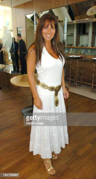 Linda Lusardi during Nick Leeson Signs His Book 'Back From The Brink Coping With Stress' at Ubon in London June 22 2005 at Ubon Canary Wharf in...
