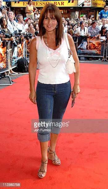Linda Lusardi during 'Stormbreaker' London Premiere Inside Arrivals at Vue West End in London Great Britain