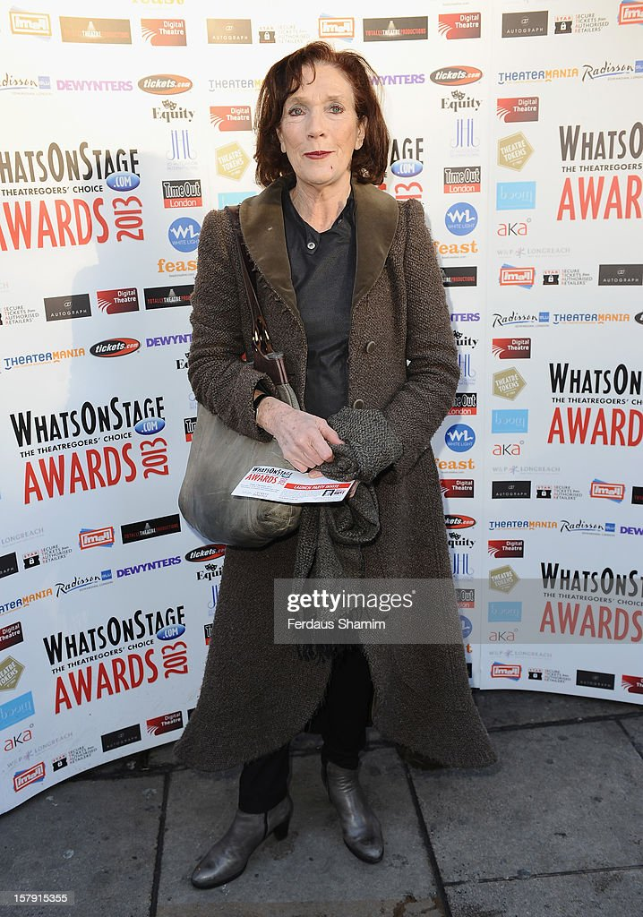 Linda Marlow attends the Whatsonstage.com Theatre Awards nominations launch at Cafe de Paris on December 7, 2012 in London, England.