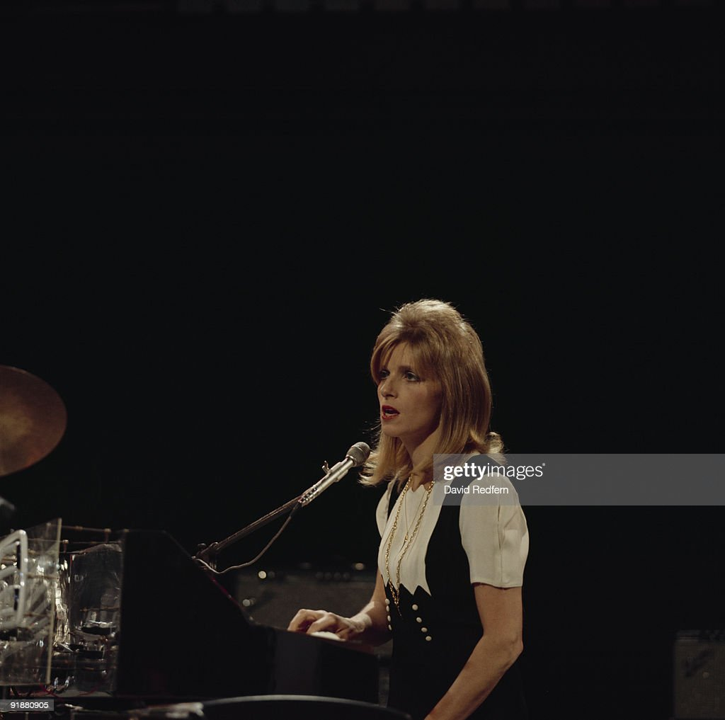 Linda McCartney of Wings performs on Top of the Pops tv show filmed in London, England on November 20, 1974.