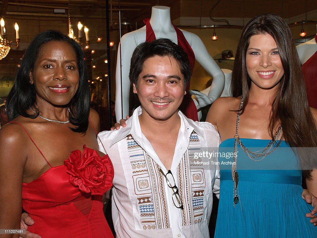 Linda McNair, Alan Del Rosario and Adrienne Janic during Fashion Party for Alan Del Rosario - August 24, 2006 at Linda McNair Boutique in West Hollywood, California, United States.
