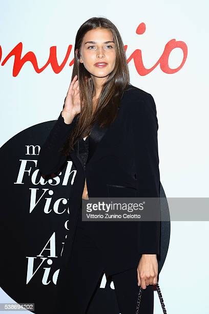 Linda Morselli attends Convivio 2016 photocall on June 7 2016 in Milan Italy