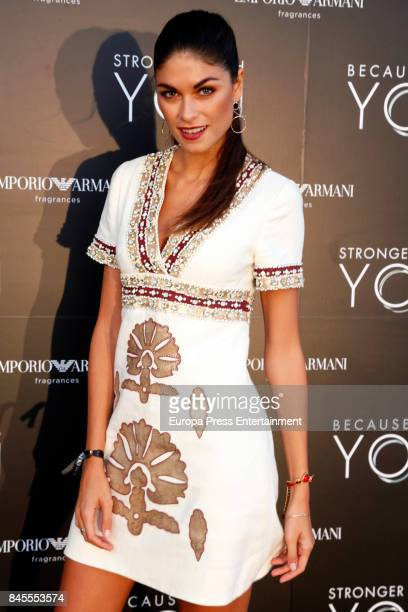Linda Morselli attends the presentation of the new Emporio Armani's fragances 'Stronger with you' and 'Because it's you' on September 9 2017 in Ibiza...