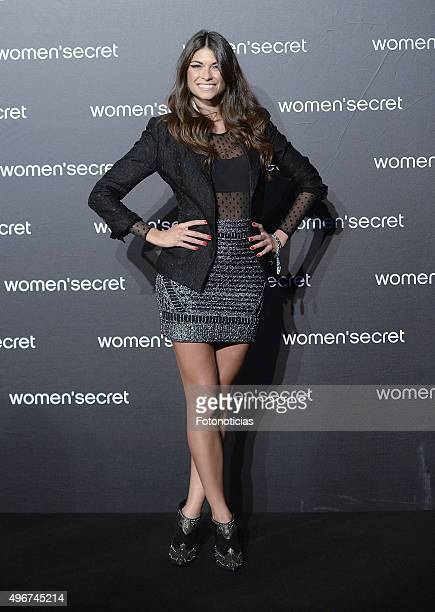 Linda Morselli attends the Women'Secret Videoclip Presentation at La Riviera on November 11 2015 in Madrid Spain