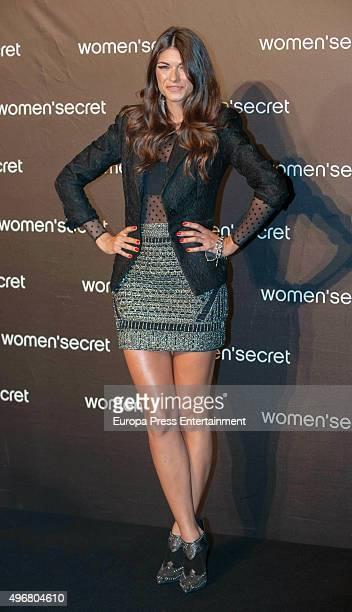 Linda Morselli attends Women's Secret videoclip premiere at Sala La Riviera on November 11 2015 in Madrid Spain