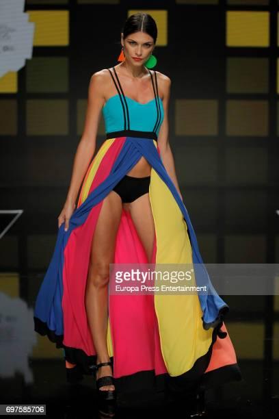 Linda Morselli walks the catwalk during Gran Canaria Moda Calida Fashion Show on June 18 2017 in Maspalomas Spain